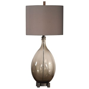 Uttermost Lamps Saimara Charcoal Glass Lamp