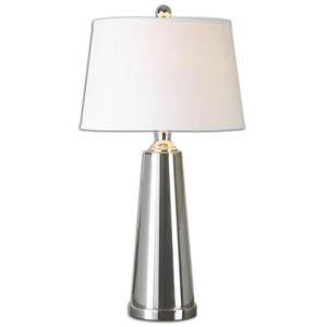 Uttermost Lamps Caposele Charcoal Glass Lamp