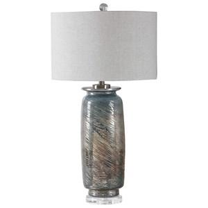 Olesya Swirl Glass Table Lamp