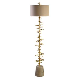 Uttermost Lamps Lostine Modern Gold Floor Lamp