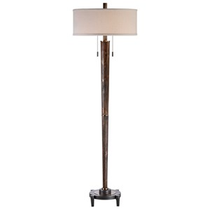Uttermost Lamps Rhett Burnished Oak Floor Lamp