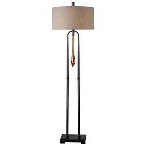 Uttermost Lamps Gintaras Black Floor Lamp