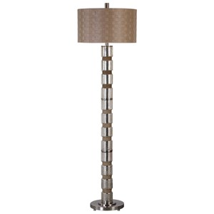 Uttermost Lamps Cerreto Mercury Glass Floor Lamp