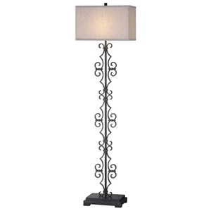 Uttermost Lamps Adelardo Rust Bronze Floor Lamp