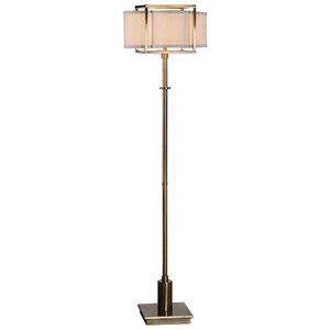 Uttermost Lamps Bettino Antique Brass Floor Lamp