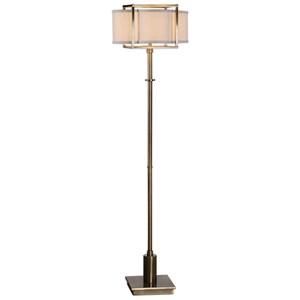 Bettino Antique Brass Floor Lamp
