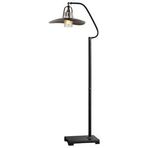 Uttermost Lamps Arkutino Black Iron Floor Lamp