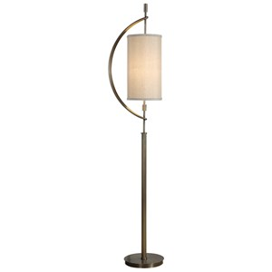 Uttermost Lamps Balaour Antique Brass Floor Lamp