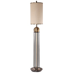 Uttermost Lamps Niambi Brass Floor Lamp