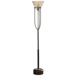 Amaleeda Amber Glass Floor Lamp
