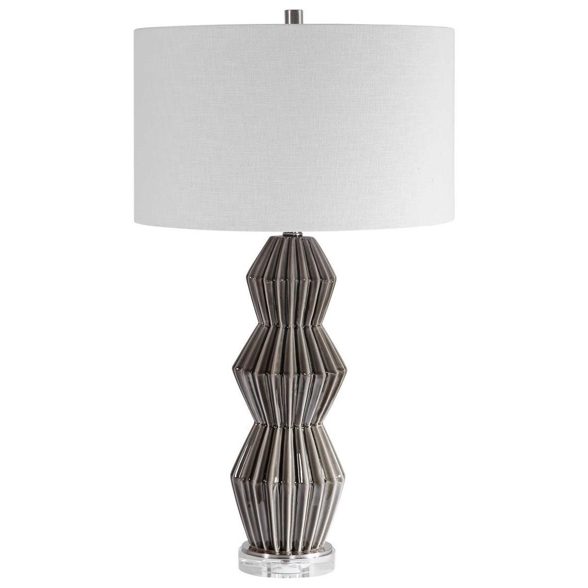 Maxime Smokey Gray Table Lamp