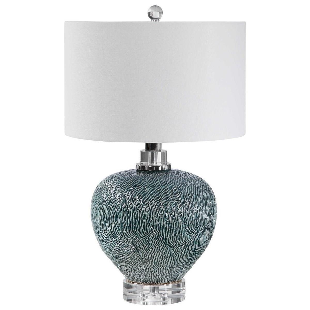 Almera Dark Teal Table Lamp