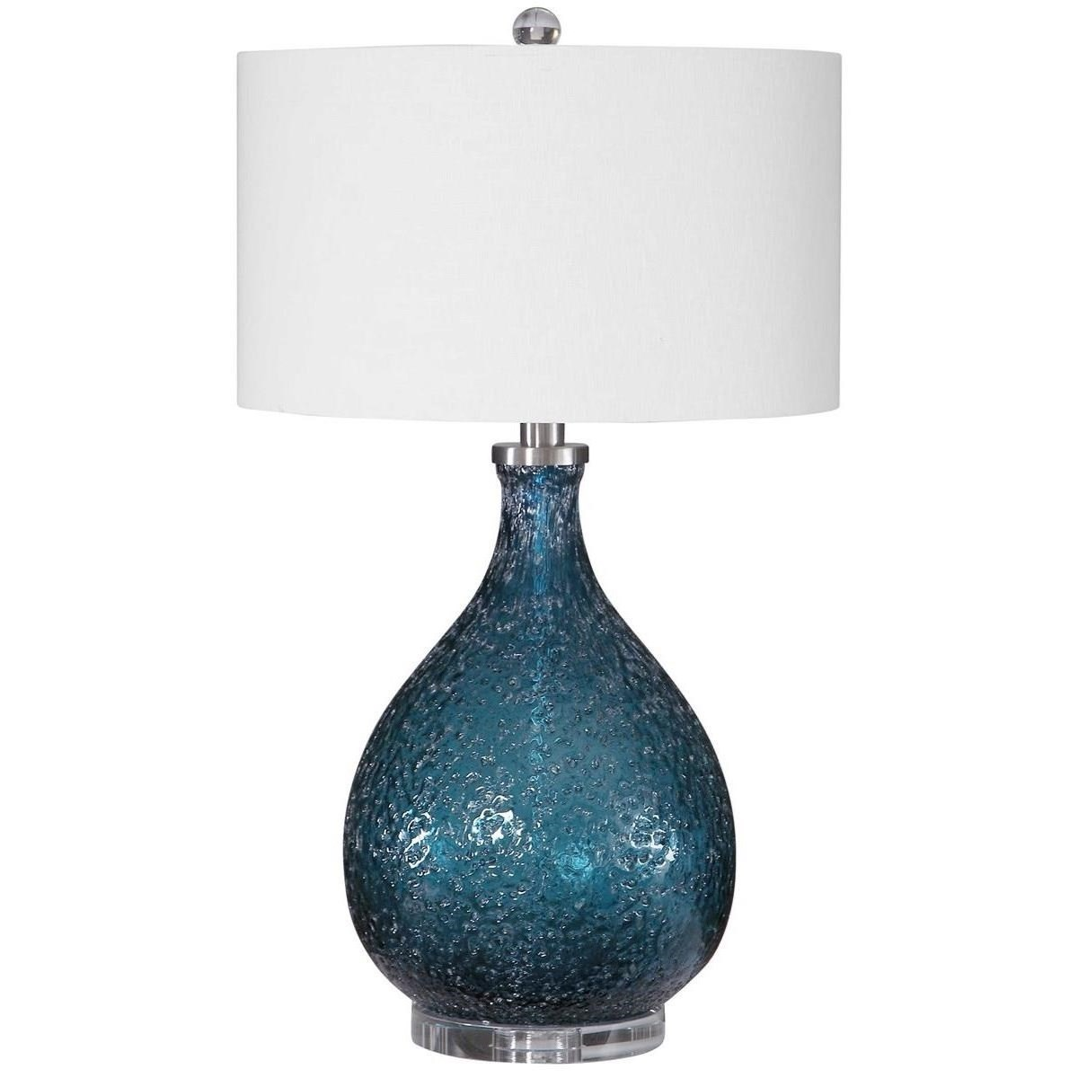 Eline Blue Glass Table Lamp