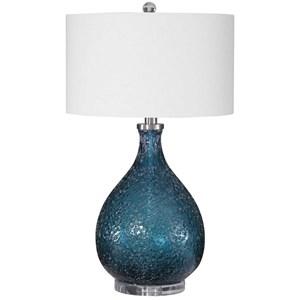 Eline Blue Glass Table Lamp