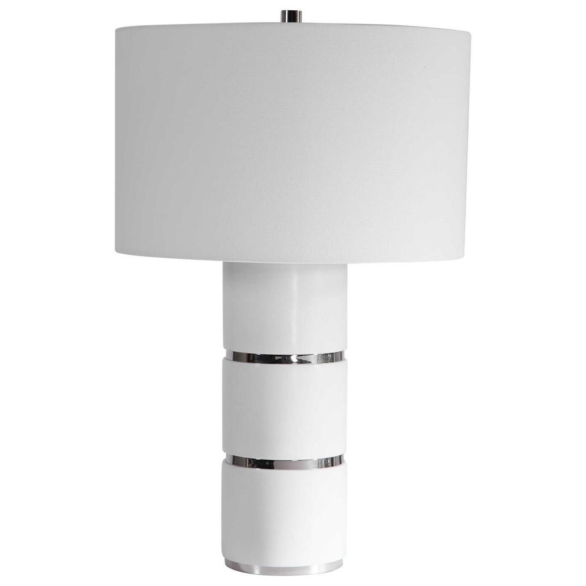 Grania White Marble Table Lamp