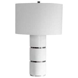 Grania White Marble Table Lamp