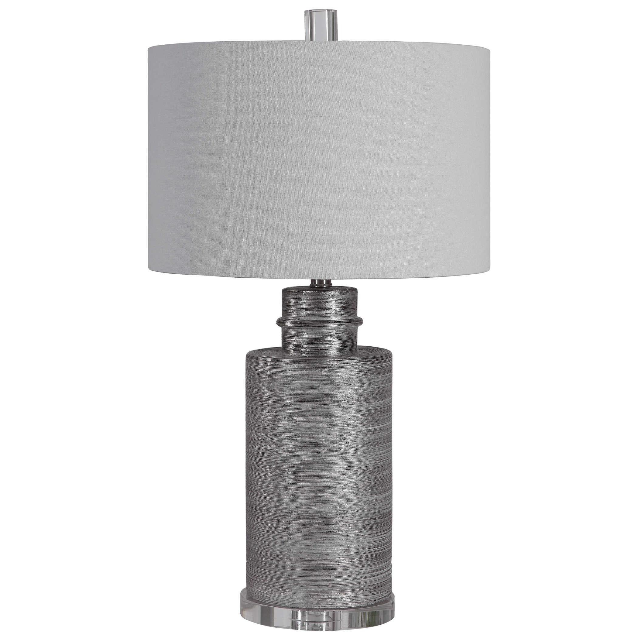 Anitra Metallic Silver Table Lamp
