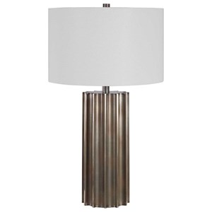 Khalio Gun Metal Table Lamp