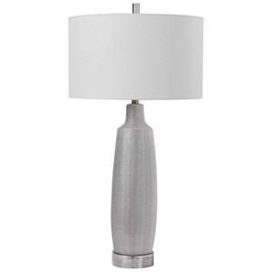 Kathleen Metallic Silver Table Lamp