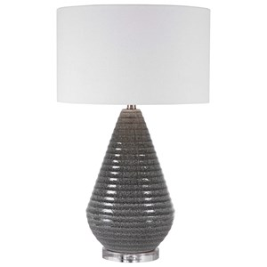 Carden Smoke Gray Table Lamp