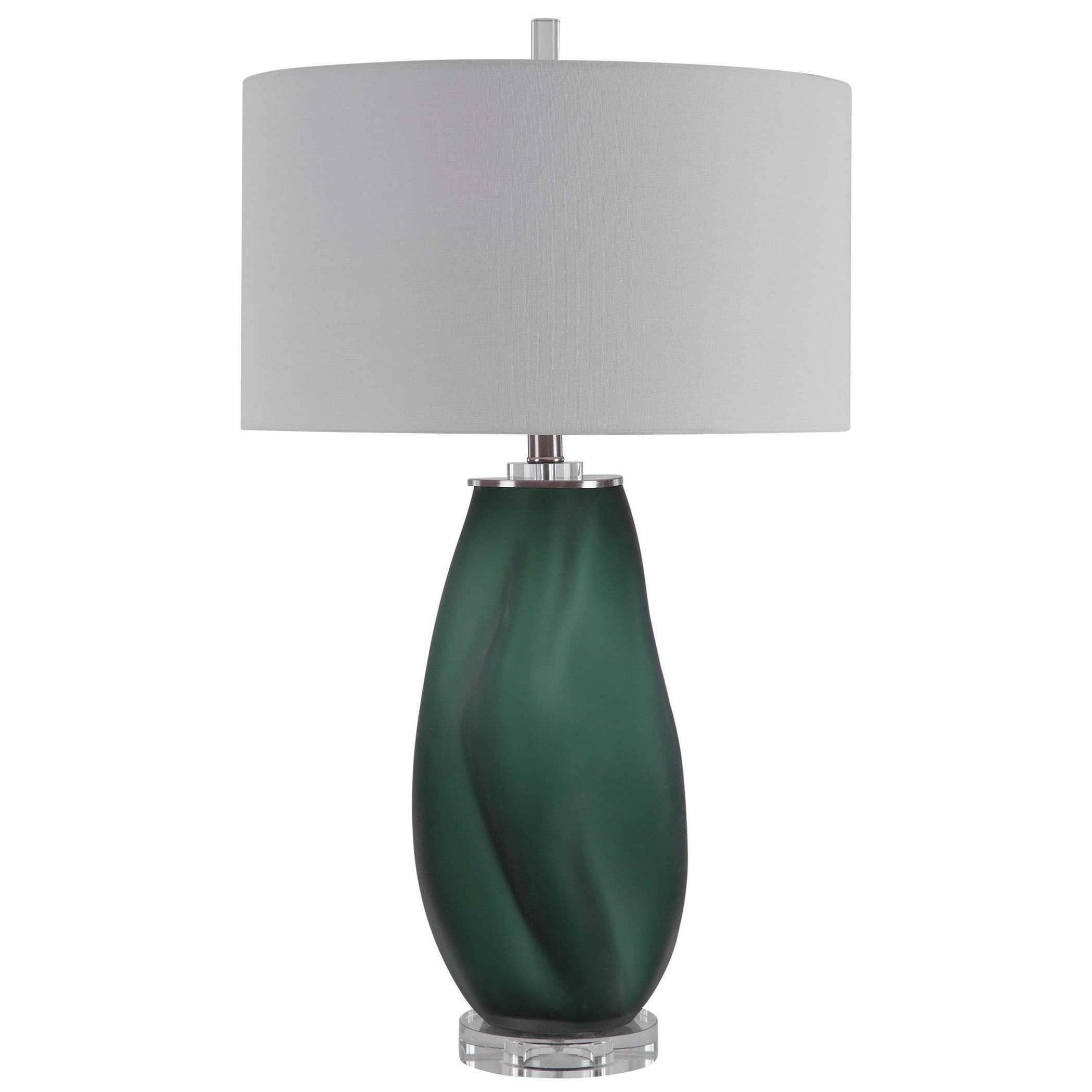Esmeralda Green Glass Table Lamp