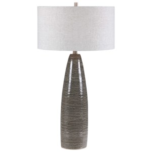 Cosmo Charcoal Table Lamp