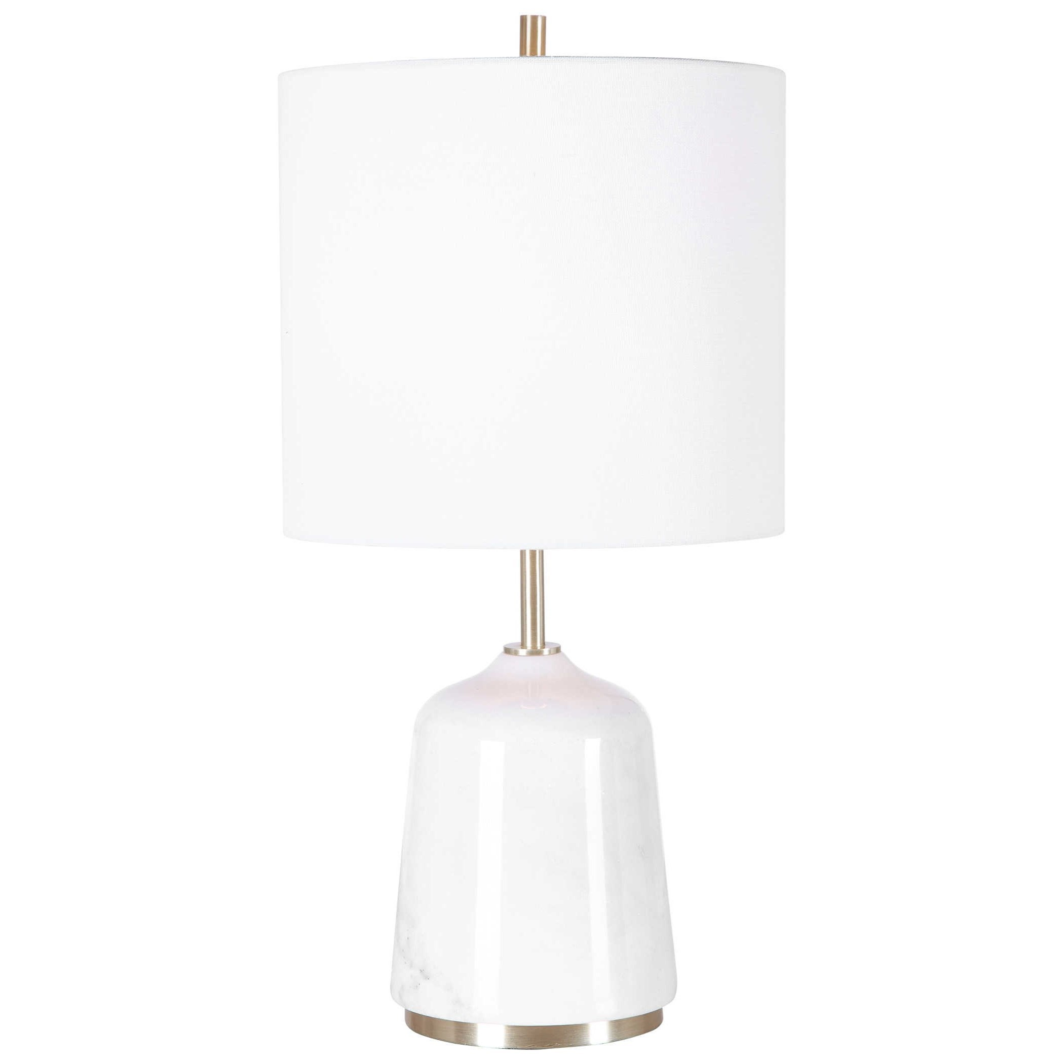Eloise White Marble Table Lamp