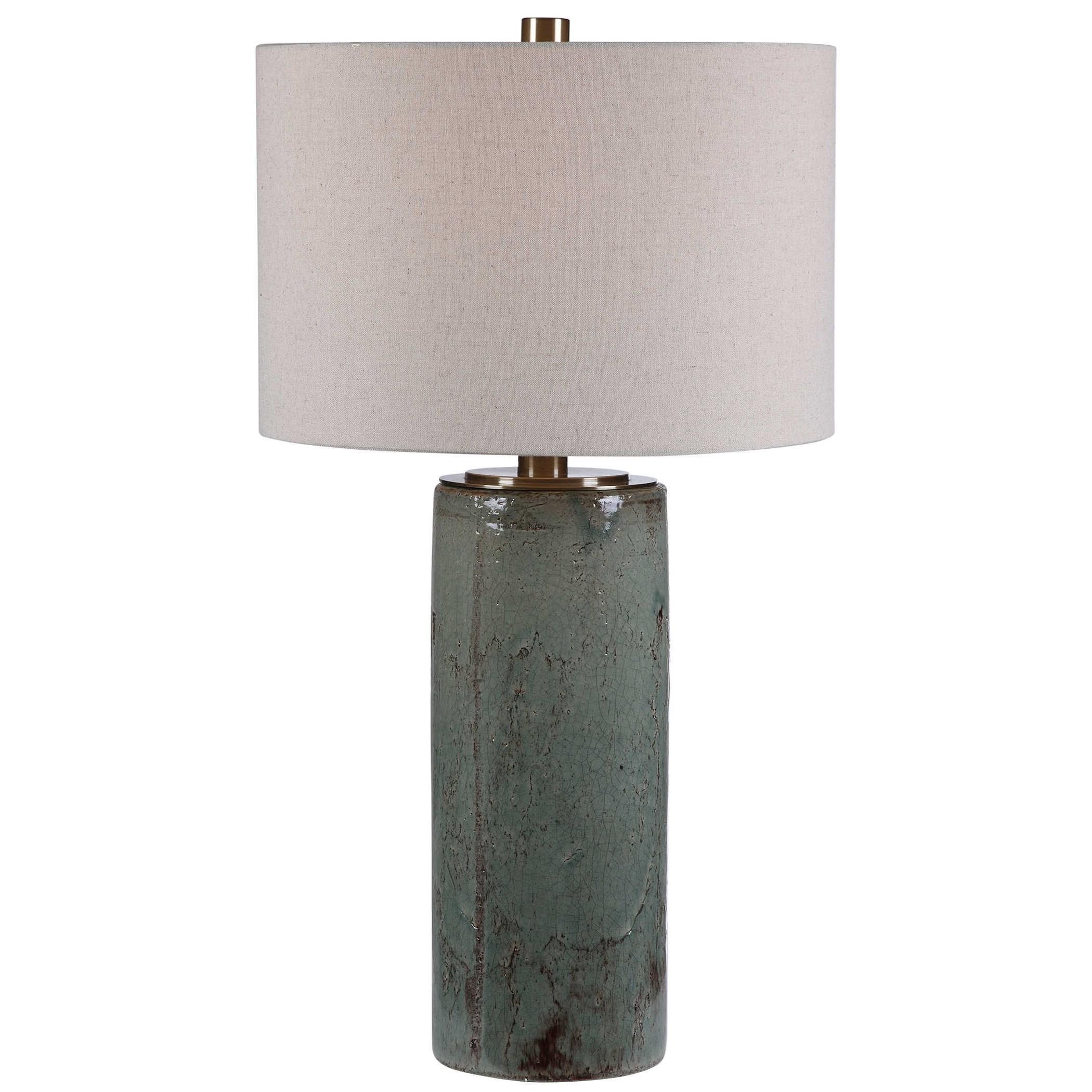 Callais Crackled Aqua Table Lamp