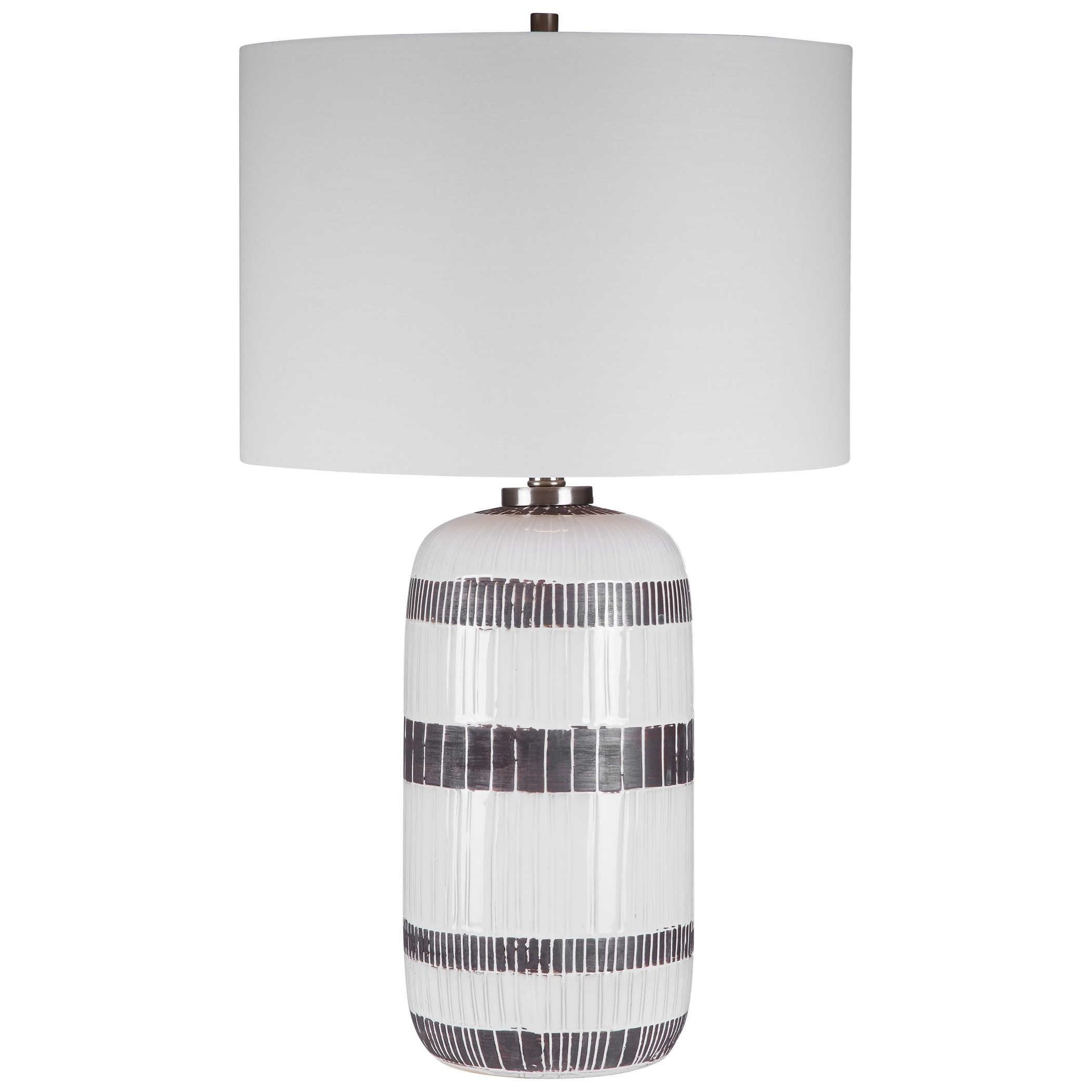 Granger Striped Table Lamp