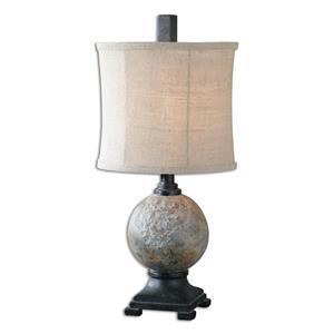 Uttermost Lamps Calvene Concrete Ball Table Lamp