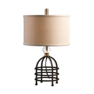 Uttermost Lamps Ladonia Rust Black Table Lamp