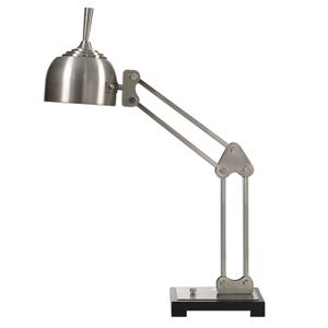 Uttermost Lamps Amado Brushed Nickel Desk Lamp