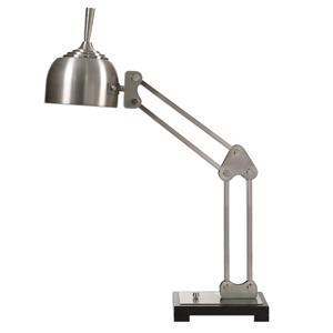 Uttermost Lamps Amado Brushed Nickel Desk Lamp