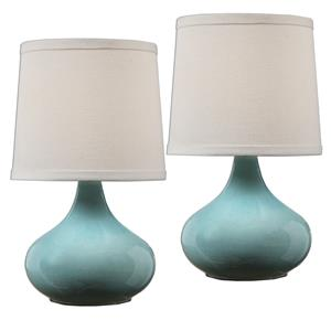 Uttermost Lamps Gabbiano Pale Blue Lamps, S/2