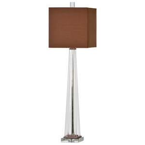 Uttermost Lamps Rivanna Clear Glass Buffet Lamp