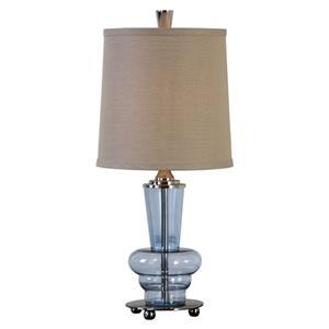 Uttermost Lamps Aubin Blue Glass Buffet Lamp