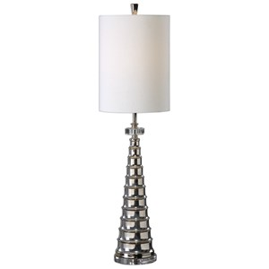 Uttermost Lamps Priverno Polished Nickel Lamp