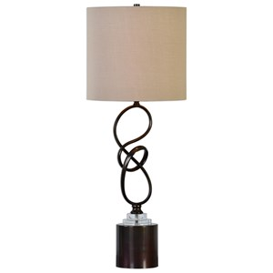 Uttermost Lamps Aprilia Twisted Dark Bronze Lamp