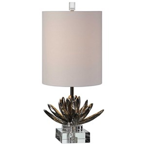 Uttermost Lamps Silver Lotus Table Lamp
