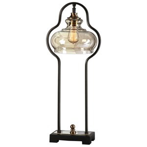 Uttermost Lamps  Cotulla Aged Black Desk Lamp
