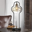 Uttermost Lamps  Cotulla Aged Black Desk Lamp
