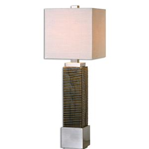 Uttermost Lamps Jernigan Bronze Glass Table Lamp