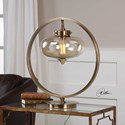 Uttermost Lamps Namura Antiqued Brass Accent Lamp