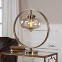 Uttermost Accent Lamps Namura Antiqued Brass Accent Lamp