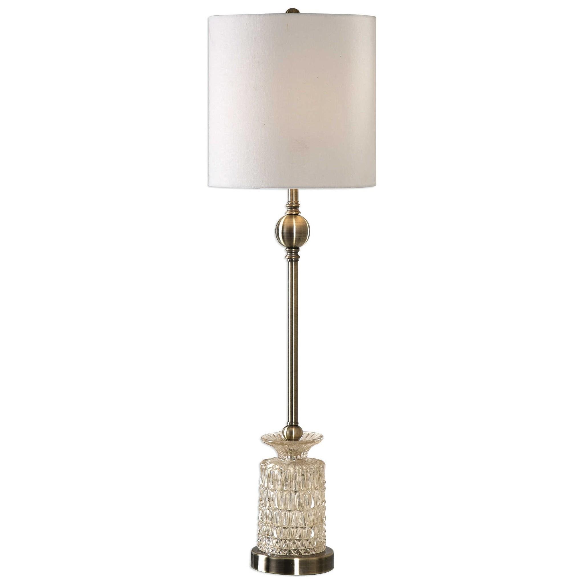 Flaviana Antique Brass Buffet Lamp