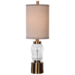 Uttermost Lamps Manuela Ribbed Glass Accent Lamp