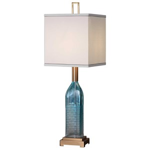 Uttermost Lamps Annabella Teal Glass Accent Lamp