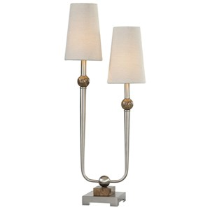 Claret Nickel 2 Light Lamp