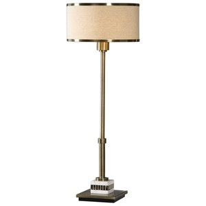 Koronia Antiqued Brass Lamp