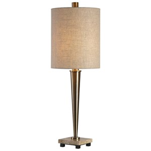 Ennell Antiqued Brass Lamp